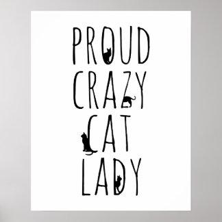 誇り高く熱狂するな猫の女性 ポスター