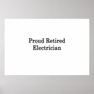 誇り高く退職したな電気技師 ポスター