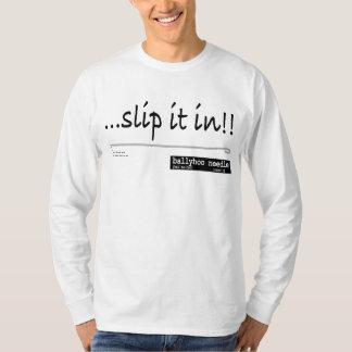 誇大宣伝の針のそれをスリップまたは滑ること Tシャツ