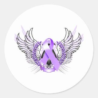 認識度の種族の紫色 ラウンドシール