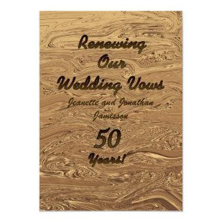 誓約の更新第50記念日の招待状2Sided カード