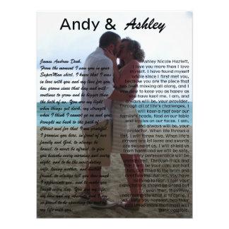 誓約のpicを結婚しているアンディー及びAshley 写真プリント