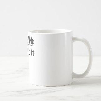 誕生によって釘付けされるIt.png コーヒーマグカップ