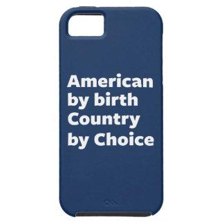 誕生によるアメリカ人、選択による国 iPhone SE/5/5s ケース