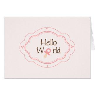 誕生の発表! カード
