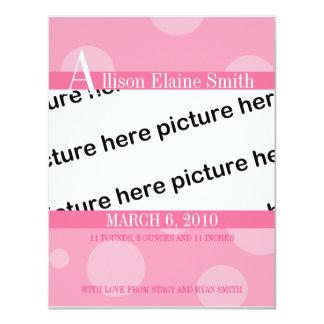 誕生の発表 カード