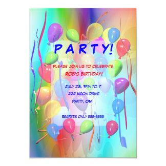 誕生会のお祝いの気球 カード