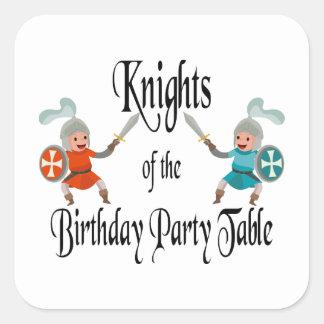 誕生会のテーブルの騎士 スクエアシール