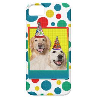 誕生会の帽子-ゴールデン・リトリーバーのTebowのコロナ iPhone SE/5/5s ケース