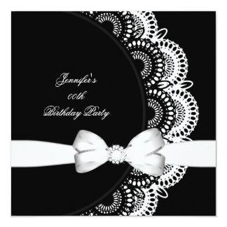 誕生会の白黒のダイヤモンドのイメージ カード