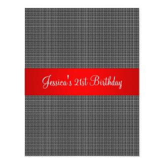誕生会の赤く黒く及び白く小さい点 カード