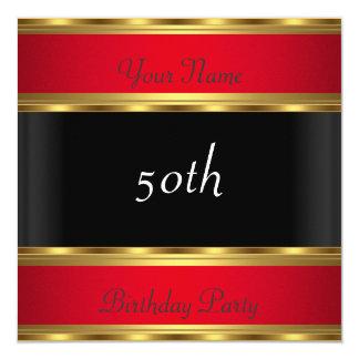誕生会の金ゴールドの赤い黒 カード