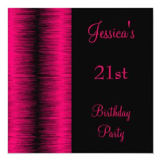 誕生会の黒のピンクの空電 カード