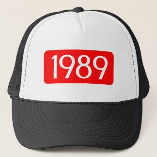 誕生年の1989年の文字の誕生日数 キャップ