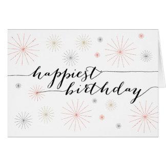 誕生日おめでとうの挨拶状 グリーティングカード