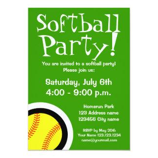 誕生日およびBBQのためのソフトボールのパーティの招待状 12.7 X 17.8 インビテーションカード