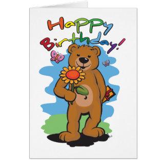 誕生日くま カード