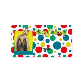 誕生日のカップケーキ-アフガニスタン人 ラベル