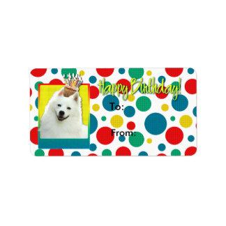 誕生日のカップケーキ-アメリカのエスキモー語 ラベル