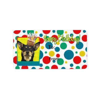誕生日のカップケーキ-オーストラリアのケルピー-ジュード ラベル