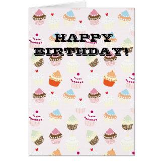 誕生日のカップケーキ カード