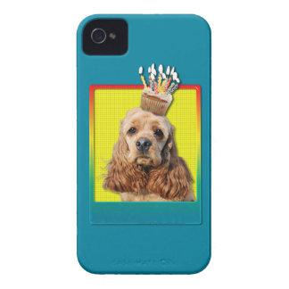 誕生日のカップケーキ-コッカースパニエル Case-Mate iPhone 4 ケース