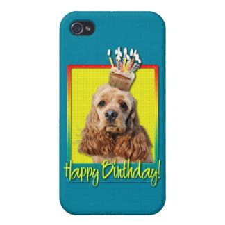 誕生日のカップケーキ-コッカースパニエル iPhone 4/4S カバー