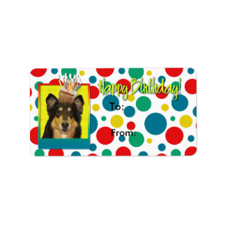 誕生日のカップケーキ-コリー-キャロライン ラベル