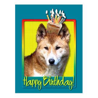 誕生日のカップケーキ-ディンゴ ポストカード