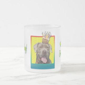 誕生日のカップケーキ-マスティフ-詮策 フロストグラスマグカップ