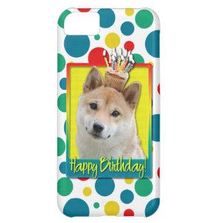 誕生日のカップケーキ-柴犬 iPhone5Cケース