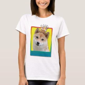 誕生日のカップケーキ-柴犬 Tシャツ