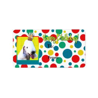 誕生日のカップケーキ- Bedlington ラベル