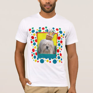 誕生日のカップケーキ- Lowchen Tシャツ
