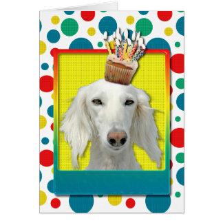 誕生日のカップケーキ- Saluki カード