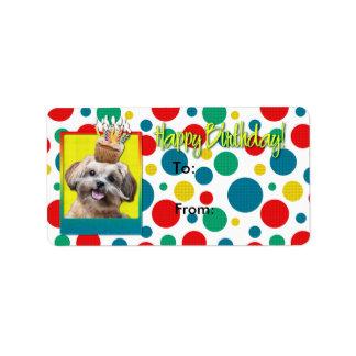 誕生日のカップケーキ- ShihPoo - Maggie ラベル