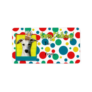 誕生日のカップケーキ- Whippet ラベル