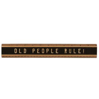 誕生日のギャグのギフト-高齢者達の規則! 定規