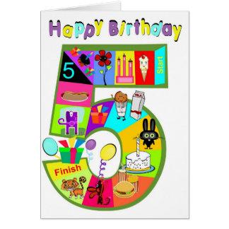 誕生日のゲームカード5歳児 カード