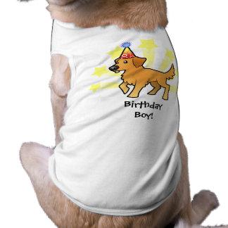 誕生日のゴールデン・リトリーバー ペット服