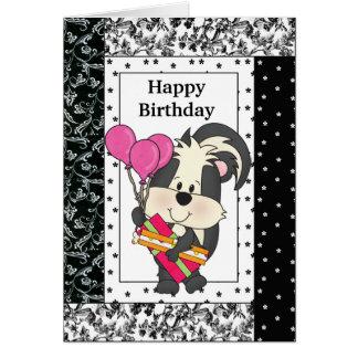 誕生日のスカンクの挨拶状 カード