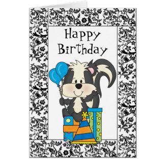 誕生日のスカンクカード カード