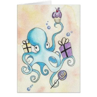誕生日のタコ カード