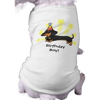 誕生日のダックスフント(滑らかなコート) ペット服