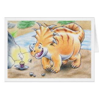 誕生日のトリケラトプス カード