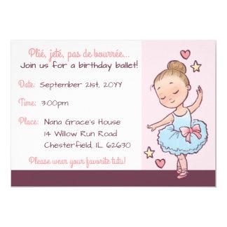 誕生日のバレエの小さいバレリーナの女の子のカスタムの写真 カード