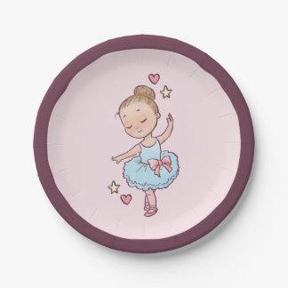 誕生日のバレエの小さいバレリーナの女の子のパーティの記念品 ペーパープレート