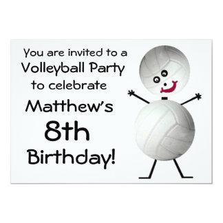 誕生日のバレーボールのパーティの招待状 カード