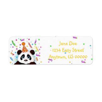 誕生日のパンダ ラベル