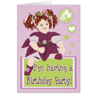 誕生日のパーティの招待状カード カード